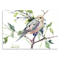 """East Urban Home Mouring Dove  Painting Print Size: 12"""" H x 16"""" W"""
