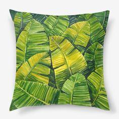 Подушка Банановые листья, Автор: Elena Prokofyeva, Цена: 1250 р.