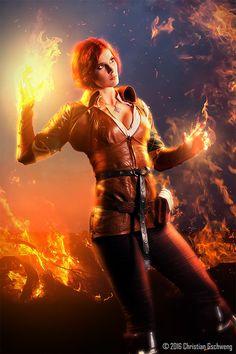 Triss Merigold - The Witcher – 12 фотокарточекъ