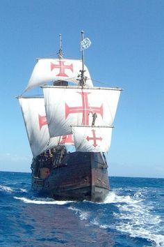 Tall Ships, Santa Maria, Old Sailing Ships, Boat Fashion, Venice Travel, Knights Templar, Model Ships, Nautical Theme, Belle Photo