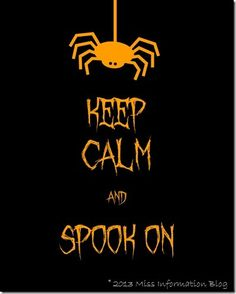 Miss Information: Keep Calm {Halloween Printables}