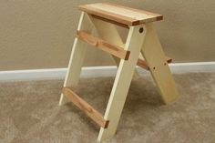 Wooden Folding Step Stool