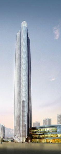 Aochen Fortune Plaza, Kunming, China :: height 399m, proposal
