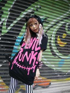 DEVIL PUNK! Short Sleeve Pull Parka (F) S-114129009-14 SUPER LOVERS APPAREL