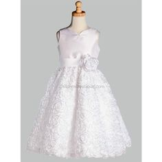 Sequin First Communion Dress: LTSP123