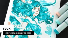 Flux | Copic Sketch Markers Process (Timelapse) by Margaret Morales Copic Sketch Markers, Music Covers, Packaging, Copic Colors, Illustration, Invitations, Make It Yourself, Don't Forget, Youtube