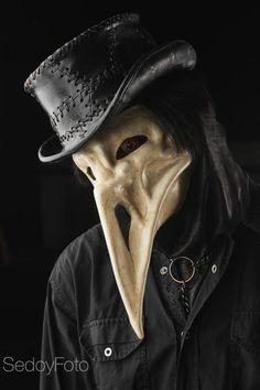 Leather mask The Plague Raven / plague by SvetliySudarWorkshop