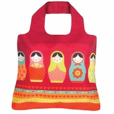Babushka bag - Beautiful, bright babushka babes are interesting and unique. Traditional babushka themes pinks and reds together mixed with greens, blues and yellows and our interpretation stays true to that for playful bursts of colorful fun. $8.95
