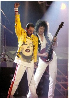 Queen 1989 Miracles Photo Session ~ Freddie Mercury and Brian May