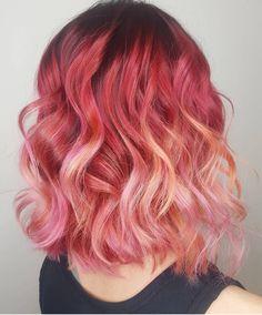Vibrant hair colors, fantasy hair, dye my hair, green hair, hair insp Vibrant Hair Colors, Fall Hair Colors, Hair Dye Colors, Bright Hair, Red Hair Color, Cool Hair Color, Green Hair, Hair Lights, Copper Red Hair