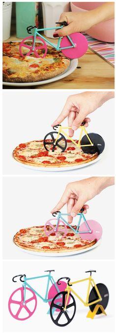 Bicicleta cortadora de pizza