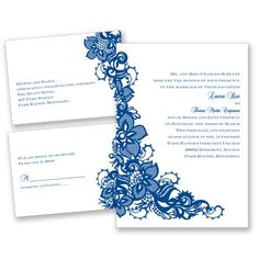 Lace Beauty - White - 3 for 1 Invitation