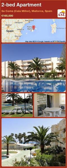 Apartment for Sale in Sa Coma (Cala Millor), Mallorca, Spain with 2 bedrooms - A Spanish Life Water Energy, Murcia, Apartments For Sale, Swimming Pools, Spanish, Bedrooms, Beach, Plants, Life