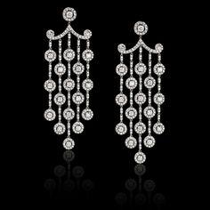 Maurice Fine Jewelry | White Diamond Chandelier Earrings