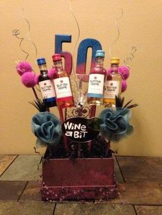 50th Birthday Basket By Kimberley Diy Ideas Decorations Gifts