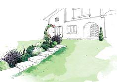 Romantic garden - View 2 - Sketch phase - Sandy MOREAU