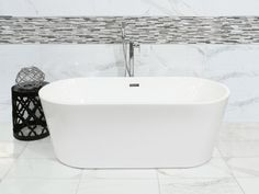 Lotus White Freestanding Bath - 1700 x 800mm