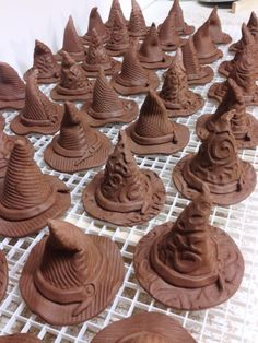 witch hats drying