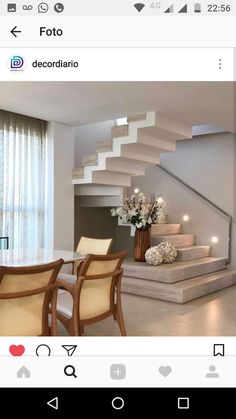 New House Stairs Design Luxury Ideas Home Stairs Design, Interior Stairs, Modern House Design, Home Interior Design, Stair Design, Interior Decorating, Decorating Ideas, Decor Ideas, Stairs In Living Room