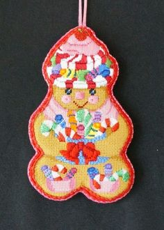 Ridgewood Needlepoint Blog: A Collection of Designs gingerbread man ornament