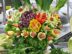 Vegetable flower arrangement.