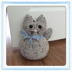 Deurstop kat gehaakt Patroon van: / Doorstopper cat crochet Pattern by:  annabooshouse.blogspot.co.uk