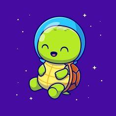 Vector Icons, Vector Free, Astronaut Cartoon, Moon Icon, Science Icons, Cute Turtles, Cartoon Styles, Cartoon Characters, Concept