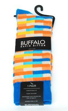 Buffalo David Britton Wild Prism Bricks Colorful Socks - $18 Retail - Brand New #BuffaloDavidBitton #Dress