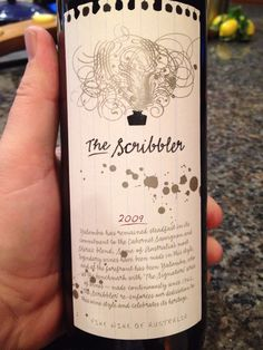 """Yalumba's 2009 """"The Scribbler"""".  A decent wine from from Barossa Valley, Australia (my favorite source of Shiraz).  61% Cab, 39% Shiraz    Smell. Cassis and cherry.  Taste. Big, mouthful of juice, pleasant finish.  Very drinkable.    $ / ++"""