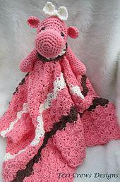 Ravelry: Hippo Huggy Blanket Crochet Pattern pattern by Teri Crews to buy Crochet Security Blanket, Crochet Lovey, Lovey Blanket, Crochet Blanket Patterns, Baby Blanket Crochet, Crochet Dolls, Knit Crochet, Basic Crochet Stitches, Crochet Basics