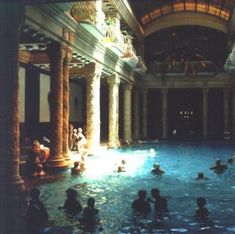 cool pools | Budapests Gellert geo thermal baths are the closest thing to how i ...