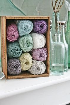 So pretty. Muted spring colors and green glass. Even the box is lovely. Afghan is pictured on the site as well. VIBEKE DESIGN
