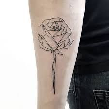 Image result for geometric rose tattoo