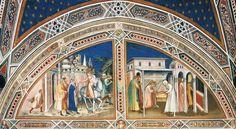 Spinello Aretino - Storie di San Benedetto, dettaglio parete sud - 1387 - affresco -  Sagrestia, Basilica di San Miniato al Monte, Firenze