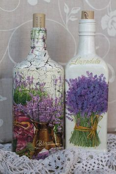 Decoupage - It's all glass and looks very cool.  Lavender is a quite interesting plant!