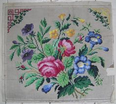 Happy Easter 2015 French bouquet Cross stitch by rolanddesigns