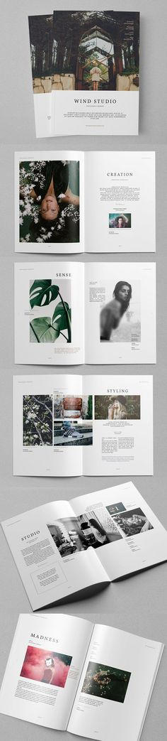 Beautiful photography and page design layouts.