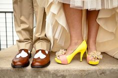 Tennessee wedding by Kathleen at Jo Photo - yellow shoes
