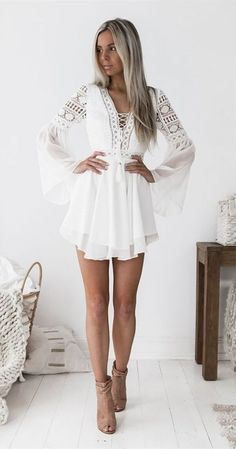 cute bell sleeevs white lace short homecoming dresses for teens, mini summer skirts , cheap hoco dress A-Line V-neck Bell Sleeves Short White Homecoming Party Dress with Lace Cheap Hoco Dresses, White Homecoming Dresses, Dresses For Teens, Cute Dresses, Short Dresses, Dresses Dresses, Prom, Graduation Dresses, Bridesmaid Dresses