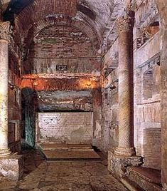 The catacombs of St. Callixtus. Salesian Istitute S.t Callixtus, Rome. The christian catacombs of Rome