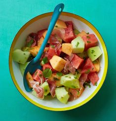 Triple Melon Salad #inseason #summer #dessert #breakfast #salad #healthy