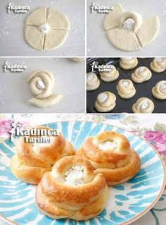 Cheese Pastry Recipe with Stale Cheese, How To? - Womanly Recipes - Delicious, Practical and Delicious Food Recipes Site, Donut Recipes, Pastry Recipes, Cheese Recipes, Cooking Recipes, Cheese Pastry, Pastry Cake, Savory Pastry, Choux Pastry, Turkish Recipes