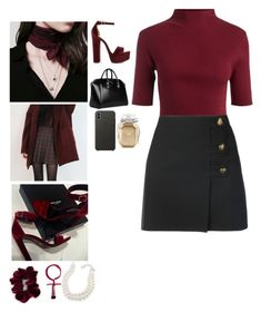 """V: Veronica Lodge"" by mrsstylik1999 ❤ liked on Polyvore featuring Carolee, Yves Saint Laurent, Steve Madden, Givenchy, Apple and Victoria's Secret"