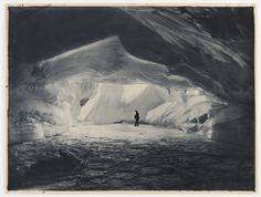 https://flic.kr/p/5niFbH | Cavern carved by the sea in an ice wall near Commonwealth Bay, 1911-1914 | Format: Silver gelatin photoprint  Notes: First Australasian Antarctic Expedition, 1911-1914  Frank Hurley visited the Antarctic six times between 1911 and 1932. For more information and pictures, visit Discover Collections: Hurley's Antarctica on the State Library of NSW's website: www.sl.nsw.gov.au/discover_collections/natural_world/anta...  From the collections of the Mitchell Library…