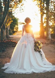 Be A Modern-Day Princess! 25 Fairytale Wedding Dresses!  Gorgeous shot!