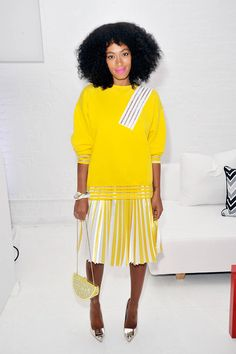 Yellow is our happy place. On #SolangeKnowles, it's even better.