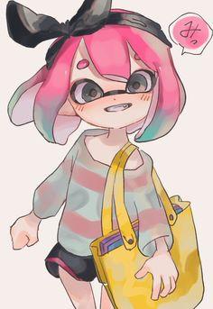 いもじる on - Camp Tutorial and Ideas Splatoon Squid, Splatoon 2 Art, Splatoon Comics, Splat Tim, Chibi, Nintendo, Pokemon, Cute Characters, Kawaii Anime