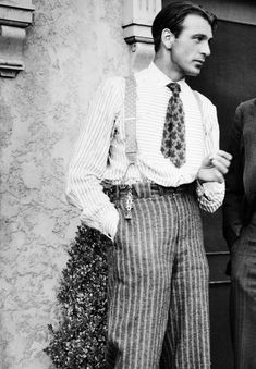 Gary Cooper off the set of One Sunday Afternoon, 1933.
