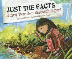 Just the Facts: Writing Your Own Research Report  AWESOME book for teaching research writing.  It is certainly more appropriate for upper elementary, but  a wonderful resource with great pictures to use when teaching research writing!