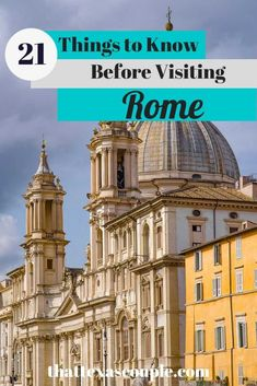 Planning a trip to Rome? Then you need to read this list of 21 things to know before visiting Rome! Rome tips Italy Travel Tips, Europe Travel Guide, Rome Travel, Travel Guides, Europe Packing, Backpacking Europe, Packing Lists, Travel Packing, As Roma